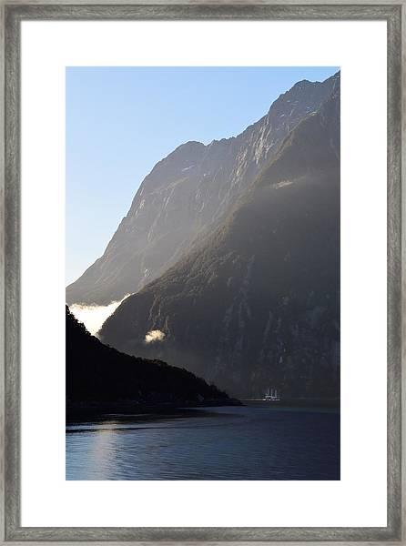 Dark Sound - New Zealand Framed Print