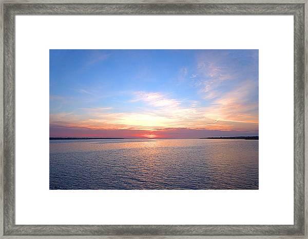 Dark Sunrise I I Framed Print
