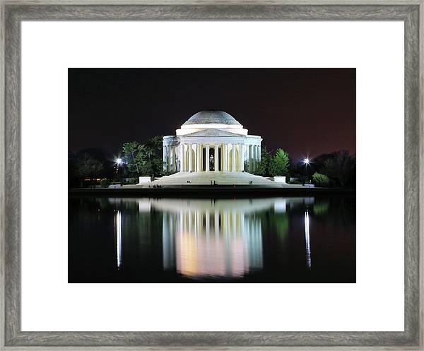 Darkness Over The Jefferson Memorial Framed Print