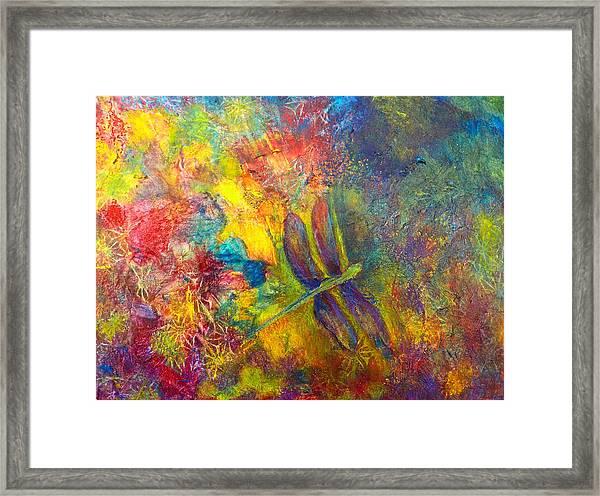 Darling Dragonfly Framed Print