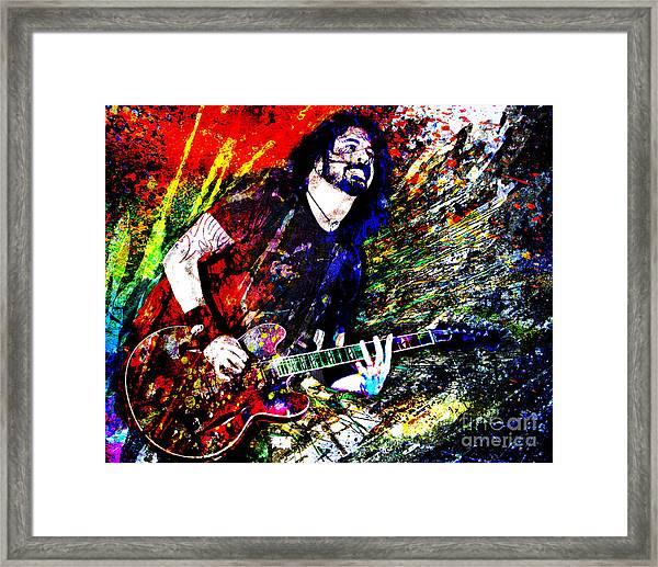 Dave Grohl Art  Framed Print