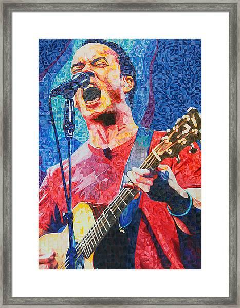 Dave Matthews Squared Framed Print