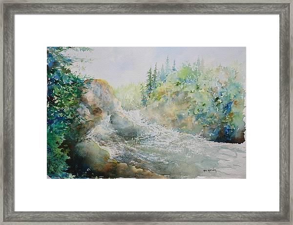 Dave's Falls Framed Print