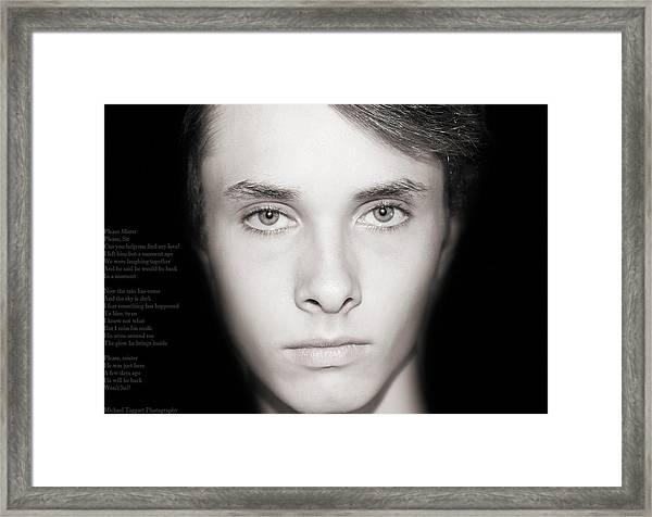 David - Lost Framed Print