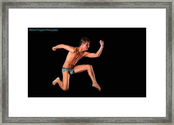 David Ashley Running Man Framed Print