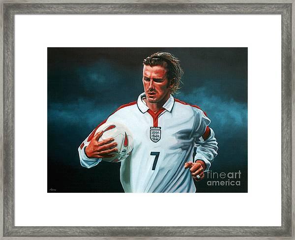 David Beckham Framed Print