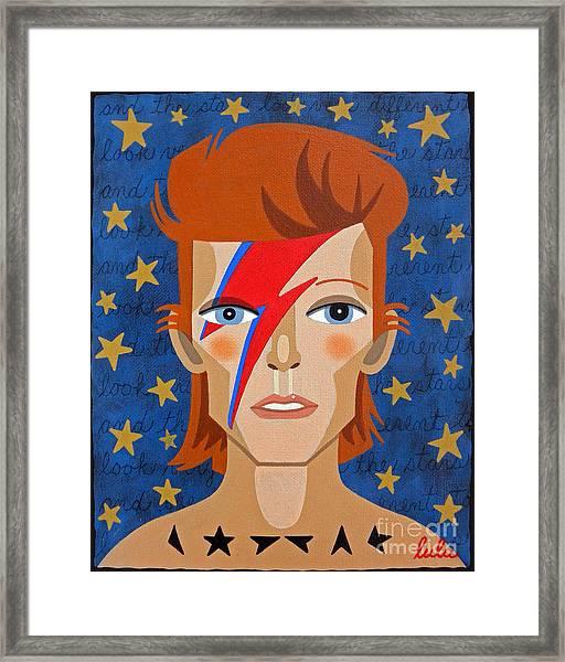 David Bowie Aladdin Sane Framed Print