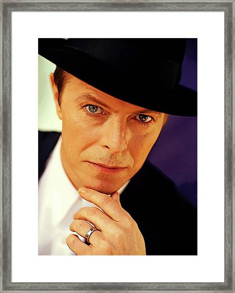 David Bowie As An Average Everyman Framed Print