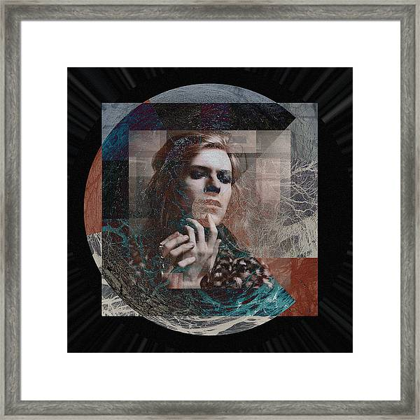 David Bowie Hunky Dory Framed Print by Graceindirain Imagery