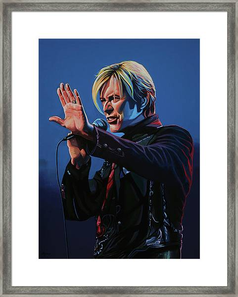 David Bowie Live Painting Framed Print