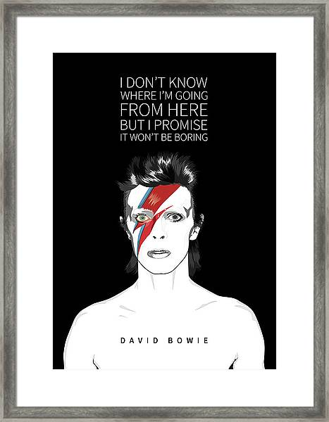 David Bowie Quote Framed Print