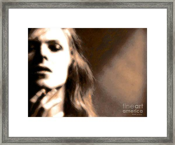 David Bowie / Through The Dream State Softly  Framed Print