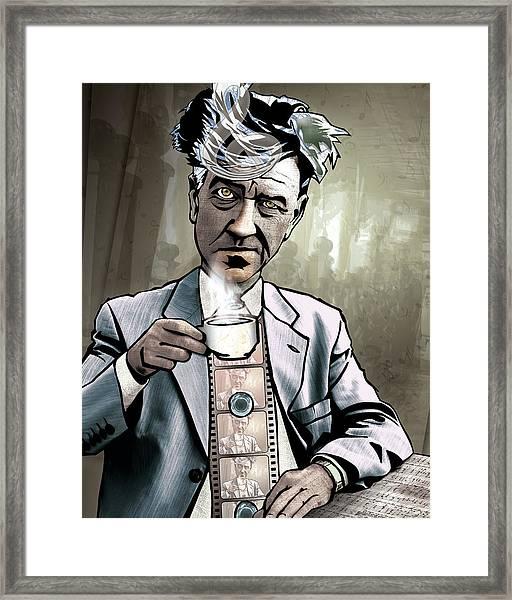 David Lynch - Strange Brew Framed Print