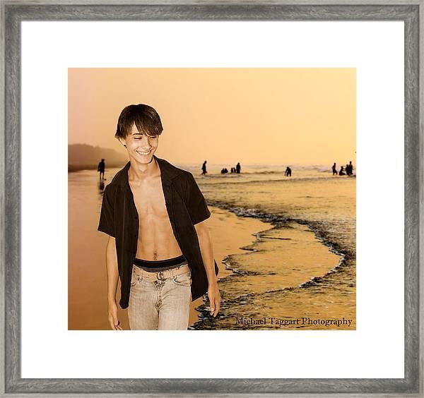 David Riedinger Beach Framed Print