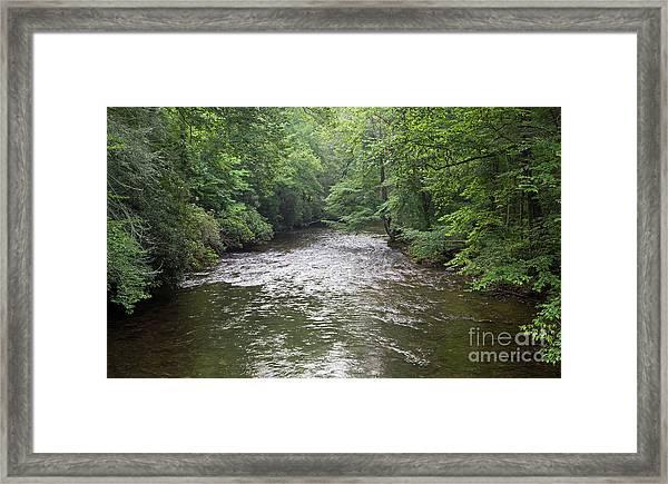 Davidson River In North Carolina Framed Print