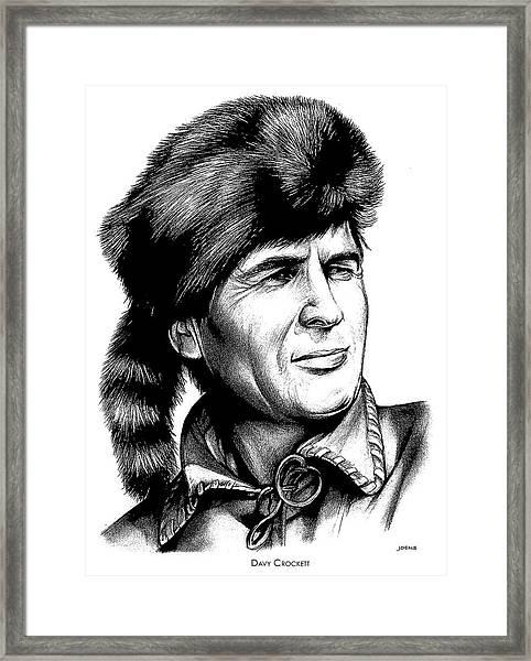 Davy Crockett Framed Print