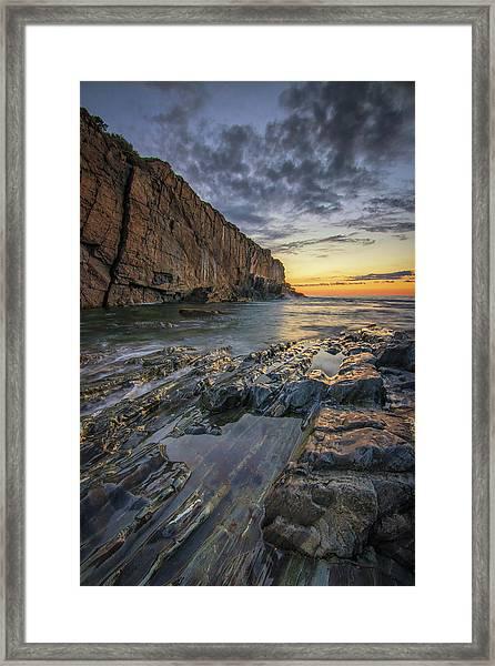 Dawn At Bald Head Cliff Framed Print