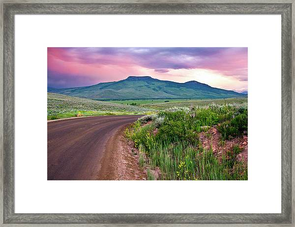 Dawn At Flattop Mountain Framed Print
