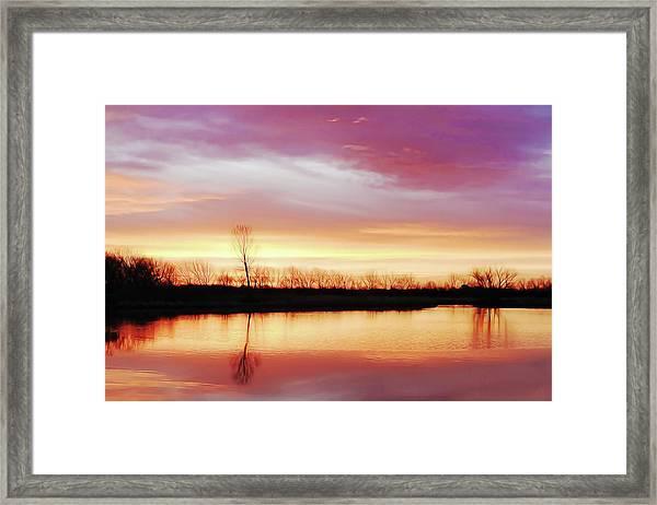 Dawn At Hillside Framed Print