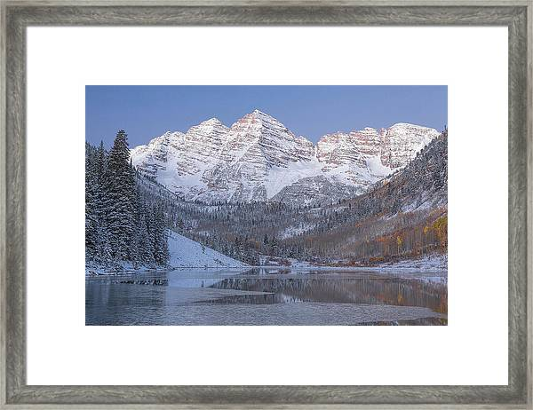 Dawn At Maroon Bells 2 Framed Print