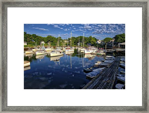 Dawn At Perkins Cove - Maine Framed Print