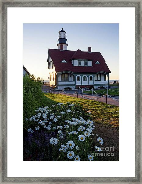Dawn At Portland Head Light, Cape Elizabeth, Maine  -08614 Framed Print