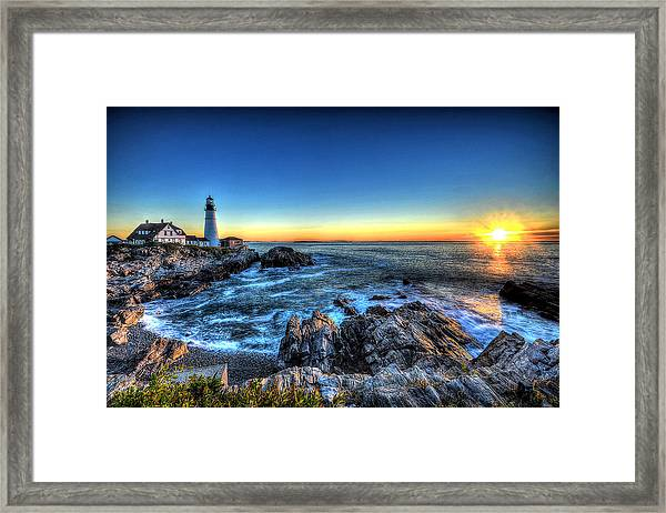 Dawn At Portland Head Lighthouse Framed Print