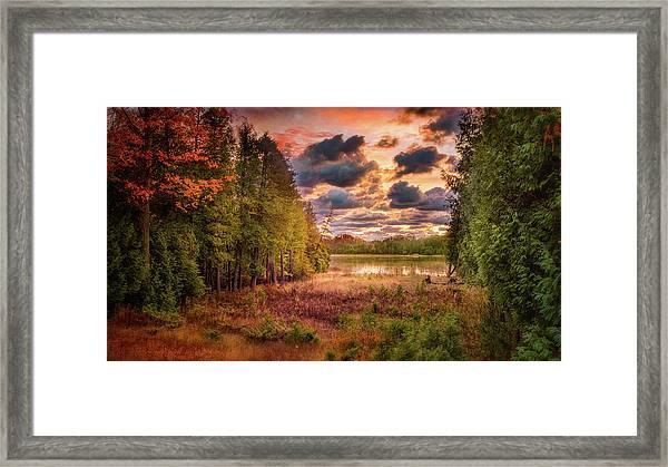 Dawn At The Lake Framed Print