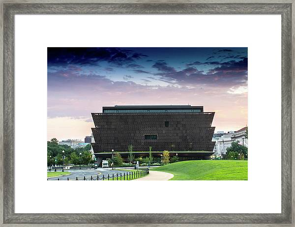 Dawn At The National Museum Of African American History And Culture.  No 1 Framed Print