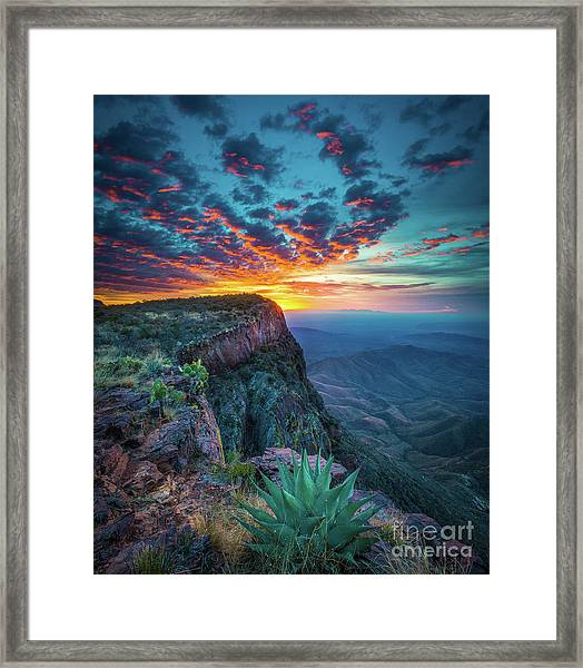 Dawn In The Chisos Framed Print