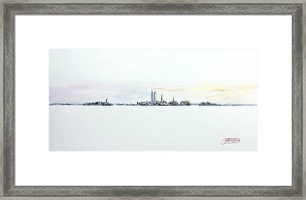 Dawn New York City Framed Print