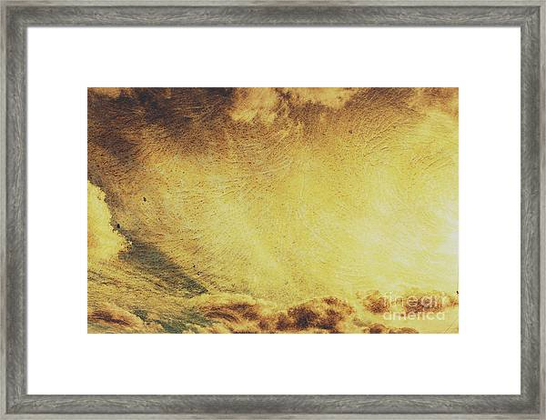 Dawn Of A New Day Texture Framed Print