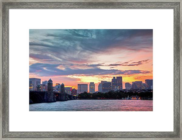 Dawn On The Charles River Framed Print