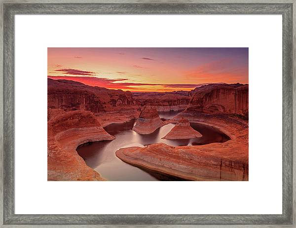 Dawn Sky Above Reflection Canyon. Framed Print