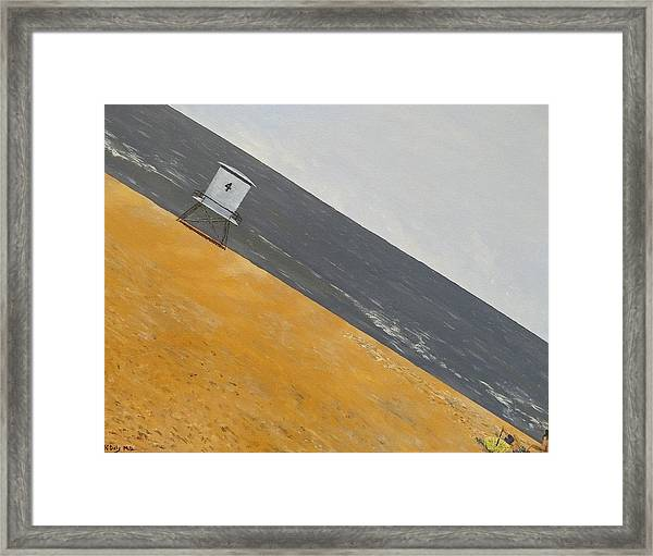 Framed Print featuring the painting Day At The Beach by Kevin Daly