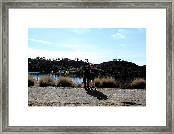 Day At The Lake Framed Print