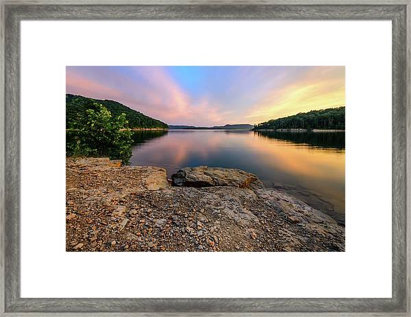 Day Light On The Bay Framed Print