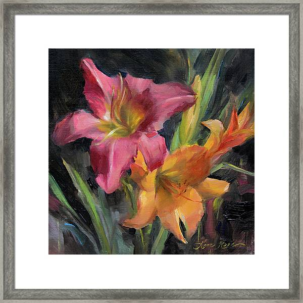 Day Lilies Framed Print