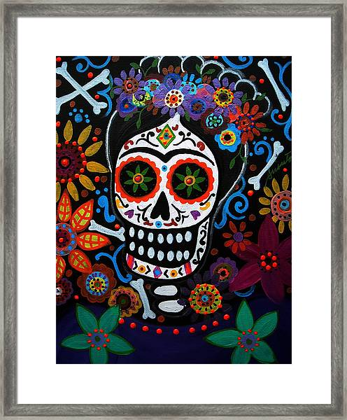 Day Of The Dead Frida Kahlo Painting Framed Print