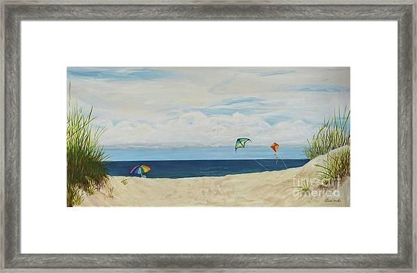 Day On Beach Framed Print