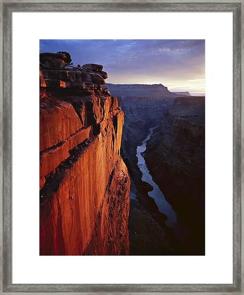 Sunrise At Toroweap Framed Print