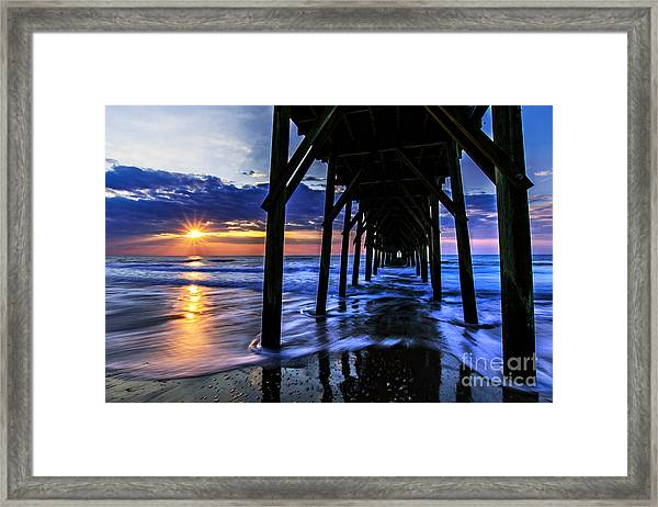 Framed Print featuring the photograph Daybreak by DJA Images