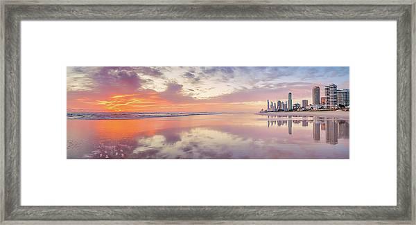 Daybreak In Paradise Framed Print