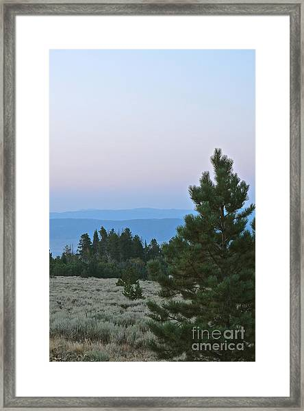 Daybreak On The Mountain Framed Print