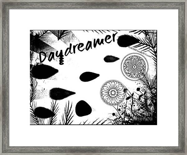 Framed Print featuring the drawing Daydreamer by Rachel Maynard