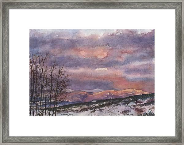 Daylight's Last Blush Framed Print