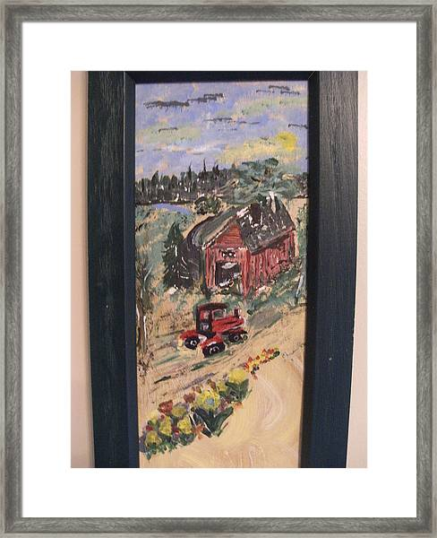 Day's Done On The Farm Framed Print by Bob Smith