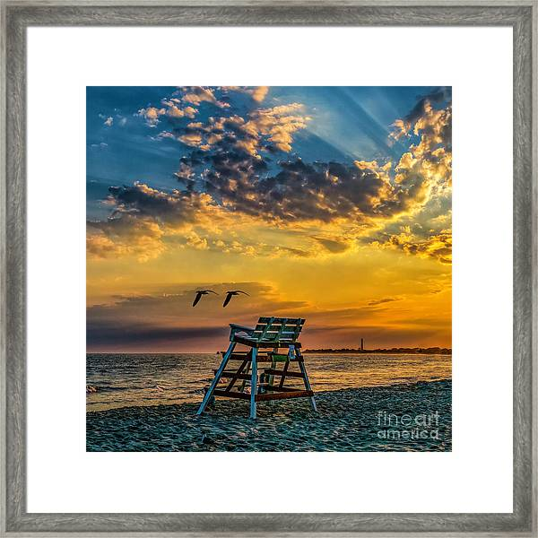 Days End In Cape May Nj Framed Print