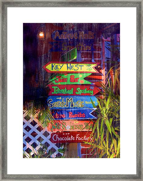 Daytona Signs Framed Print