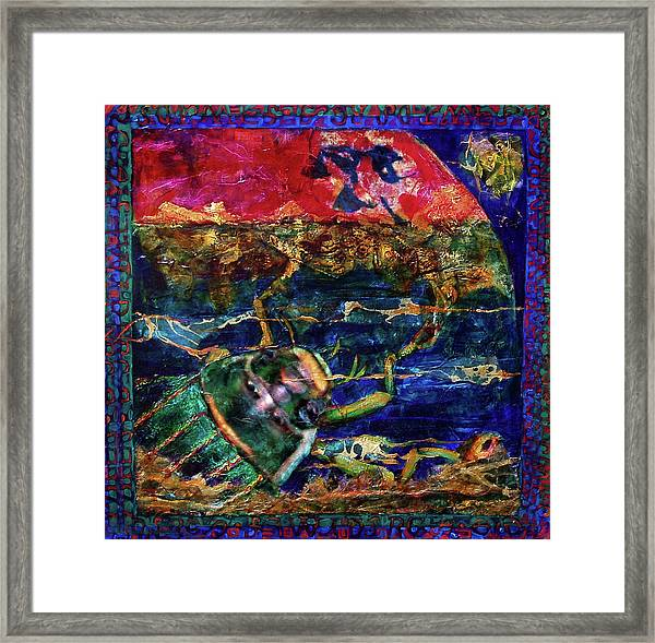Dayunisi Pushes Mud  Framed Print